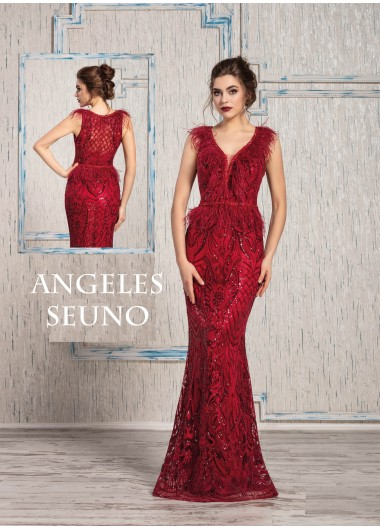 Kırmızı Payet Elbise